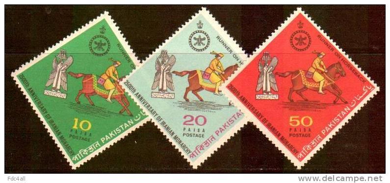 تمبرهایی با چاپ پاکستان به مناسبت جشن های ۲۵۰۰ ساله